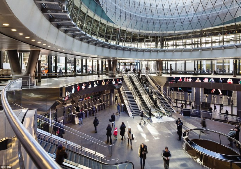 The Fulton Center in New York is a major transport hub and shopping centre. The £1billion project was commissioned by the Metropolitan Transportation Authority to revitalise the Fulton Street subway station area