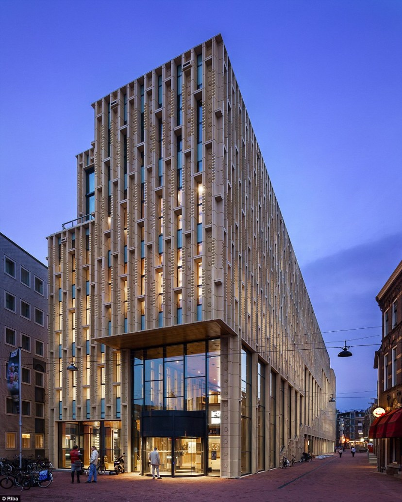 Culture House Rozet in Arnhem, Netherlands contains a library, heritage centre and community college. The Dutch town is best known as the scene of a famous battle in World War II but it is trying to reinvent itself as a cultural centre and now has this landmark building