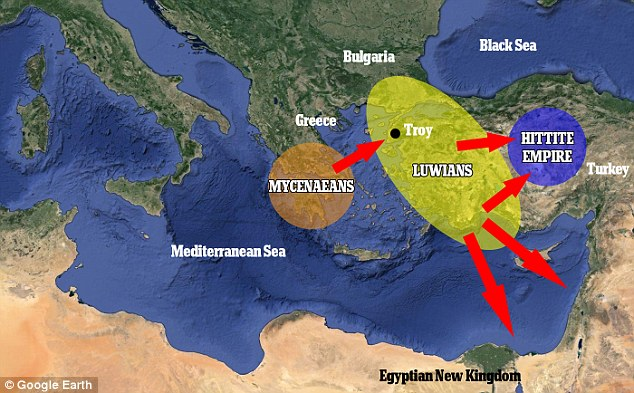 Shortly after, the Mycenaean kings in Greece banded together to destroy the Luwians, who could not defend their large territory. The Myceneans built a large fleet and attacked the port cities of Asia Minor, which were easily destroyed