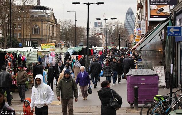 Cockneys stanno diventando una minoranza nella zona est di Londra, (nella foto), che è quartiere più multiculturale del Regno Unito, con 70.000 immigrati che arrivano nel corso degli ultimi 15 anni