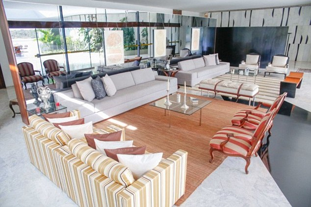 She then insisted her mother and younger sister join her living in the capital Brasilia, so husband Michel bought a £1.5million five-bedroomed mansion on the same street, and rented another four-bedroom property nearby