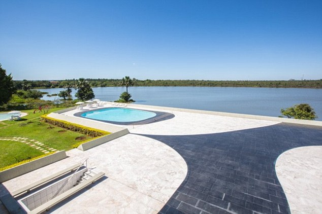 High-life: Improvements included work on the swimming pool at the Jaburu Palace, all paid for by public money