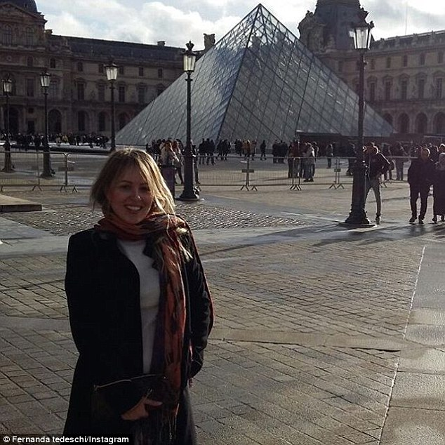 Brazilians voters were not sold on the prospect of their new First Lady, who has a knack for spending public money. 'Look at that stuck-up woman, now we'll be paying for her shopping trips in Milan and Paris,' commented one. Above, Marcela's sister Fernanda outside the Louvre museum in Paris