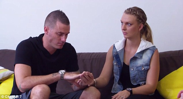 Back on: On Seven Year Switch on Tuesday night, Brad gave Tallena a new wedding cheque and proposed for the second time