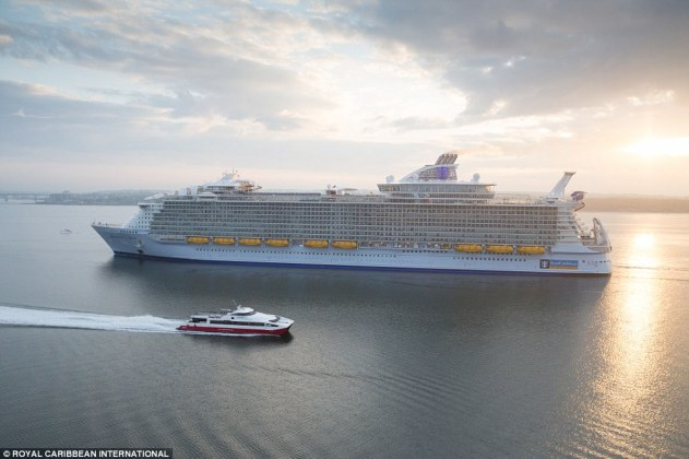 Stunning aerial photos of Harmony of the Seas' arrival in Southampton reveal the scale of the 227,000-ton cruise ship
