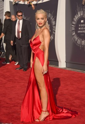 Rita Ora was pictured in a near identical outfit two years earlier when she the dress to the MTV VMAs in 2014