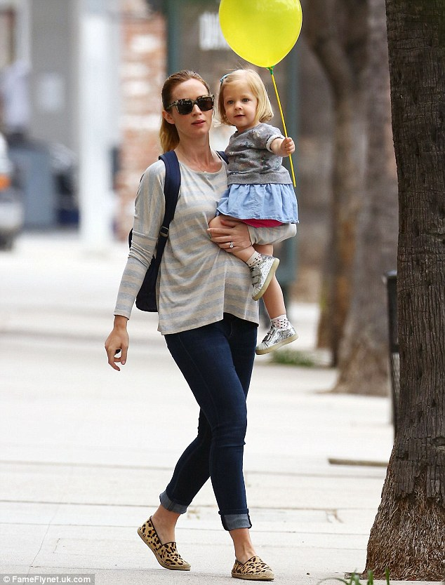 Emily Blunt Keeps It Casual As She Takes Daughter Hazel