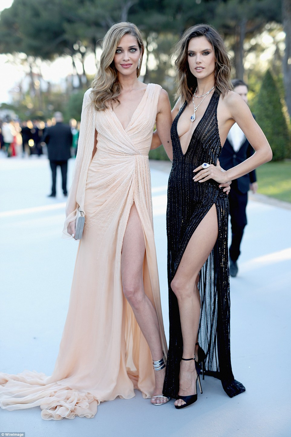 Leggy ladies! The pair showed off their tanned and toned pins in the sultry ensembles