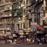Inside fortress city: Amazing images from the lawless Hong Kong slum which was once home to 30,000 and one of the most densely populated place on earth