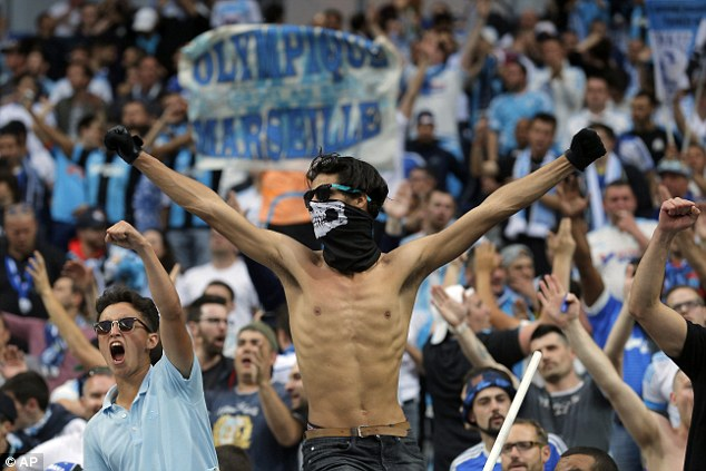 Marseille supporters create an intimidating atmosphere ahead of the french Cup final