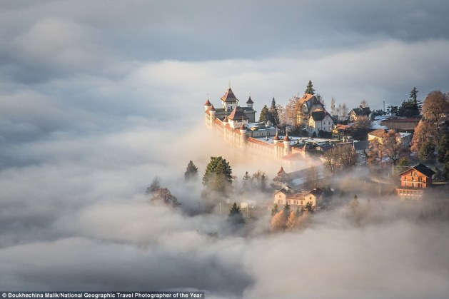 This fairytale shot is the result of a magical, powerful moment at the top of Sonchaux in Switzerland, on a day when the clouds were particularly low