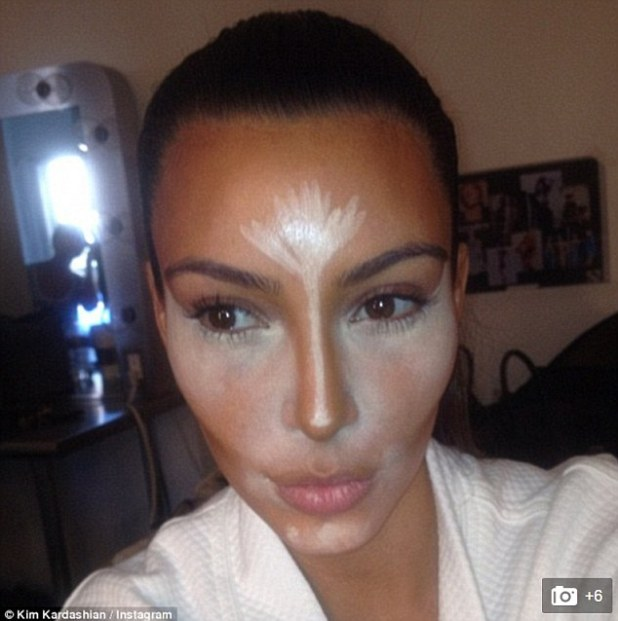 How it's done: The reality star is known for her flawless use of the make-up technique, and has posted many tips and tutorials on her social media accounts and website to help her fans (pictured in 2014)