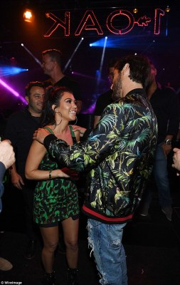 The exes proved that, despite their tumultuous past, there is no bad blood between them as they partied together at the hot spot, with the duo even sharing a tender embrace once they were inside the club