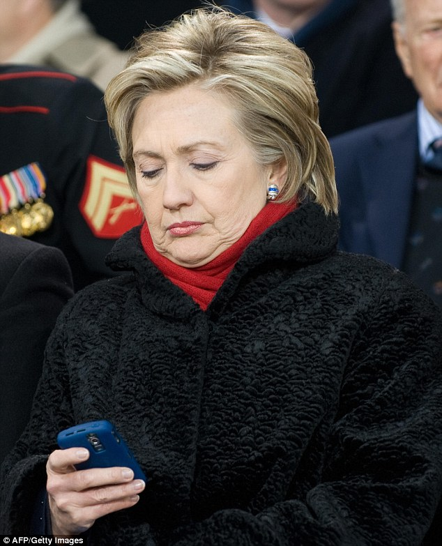 Black mark: Clinton's insistence on using her personal, over-the-counter BlackBerry for emails was a thorn in the side of colleagues. She even refused to use a government-provided BlackBerry