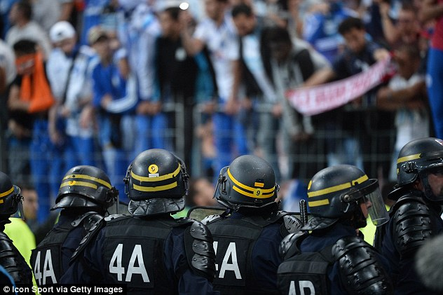 French police, pictured last week at the French Cup Final, will launch an unprecedented security operation