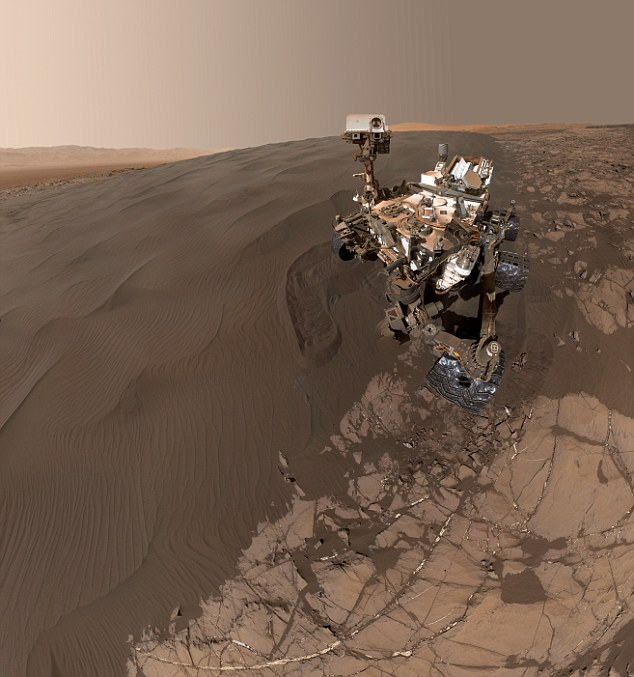Mars rovers like Nasa's Curiosity, shown, will have to dig deeper to find amino acids that might have been shielded from the radiation. Future missions would have to have 6.6 feet (2 metre) drilling capabilities, or chose landing sights with freshly exposed rocks, the researchers have said