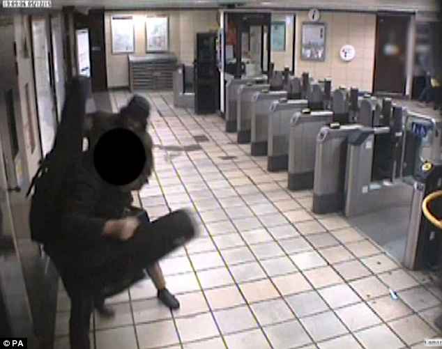 CCTV footage showed Mire attacking Mr Zimmerman, who had a guitar on his back and was carrying another instrument case