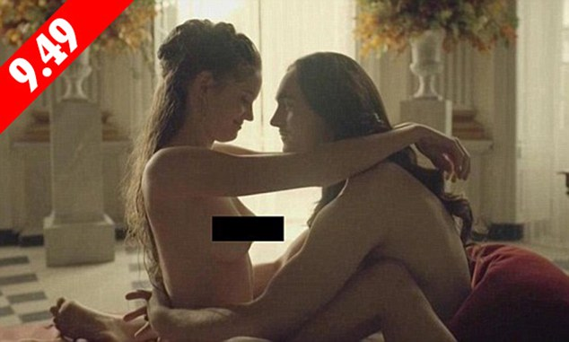 Romping, 17th century style: By the end of  the first hour of Versailles, viewers will already have witnessed plenty of sex scenes