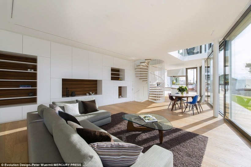 The Flexhouse has an open plan living, dining and loft-style kitchen area on the ground floor