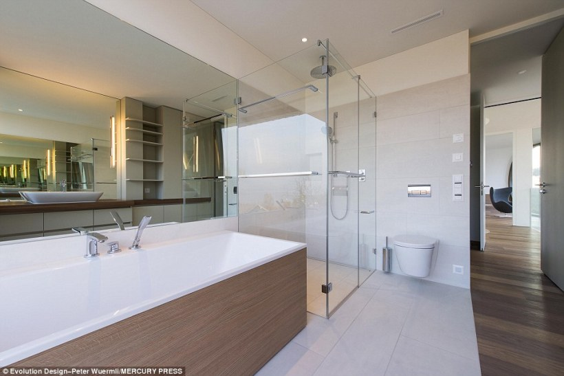 Luxury bath: The master bedroom is ensuite and comes with its own separate bathroom
