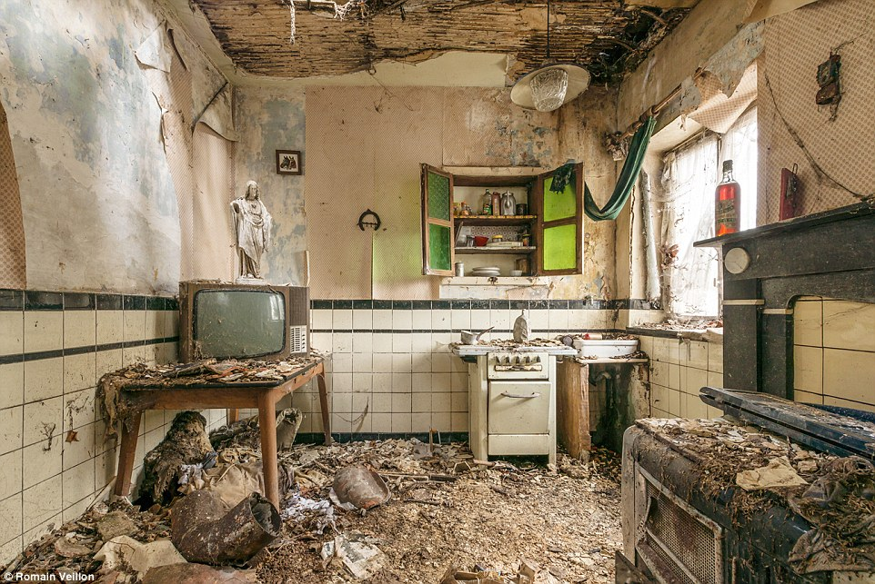 Romain Veillon, from Paris, has travelled around the world to take photos of abandoned buildings, including this house in Belgium