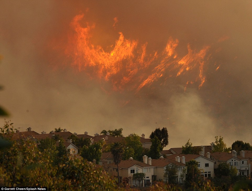 The fires all merged in the Calabasas area, causing one massive blaze, dubbed the 'Old Fire'. Thousands of people have been forced to flee their homes