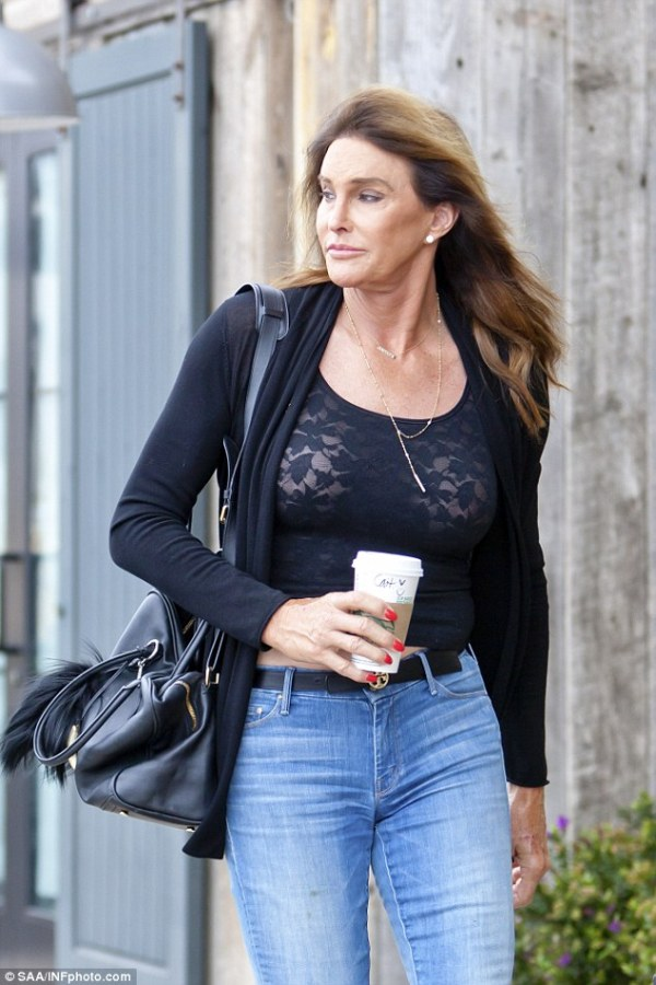 Caitlyn Jenner wears risque lace top while shopping in ...