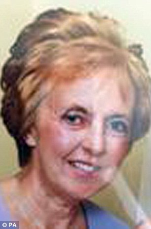 Theory: Sylvia Stuart (pictured), the missing wife of murdered pensioner Peter Stuart could be alive and with Ali Qazimaj, the man wanted on suspicion of stabbing her husband to death, police have revealed