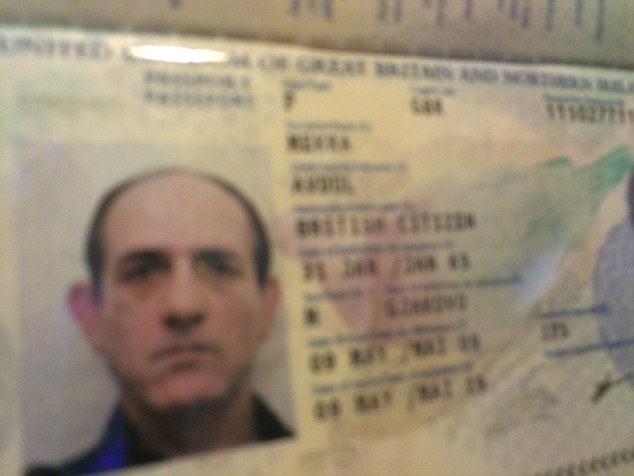 Detectives did not realise that Metra, using the bogus name Avdul Mekra, was in fact a notorious fugitive. Pictured: his UK passport