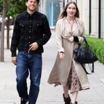 Charlie Hunnam And Morgana Mcnelis Smile Away As They Go