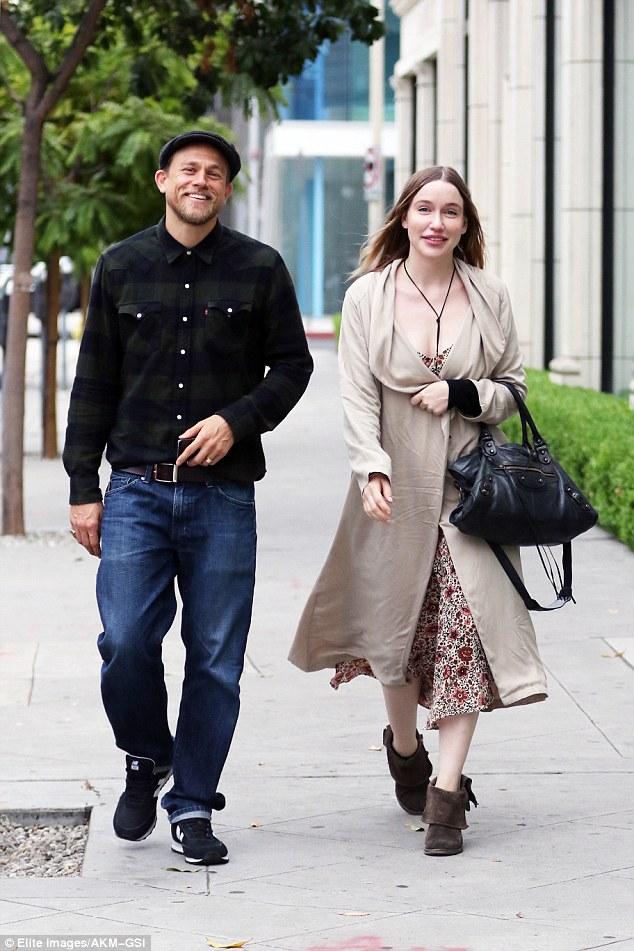 Charlie Hunnam And Morgana Mcnelis Smile Away As They Go