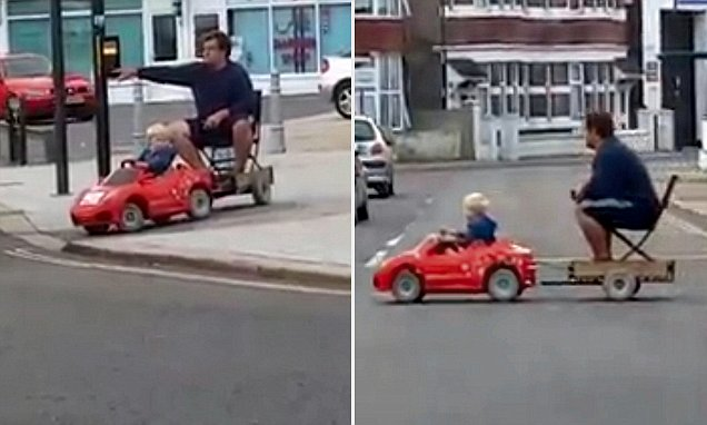 Video Shows Man Being Towed Home On Trailer Behind Small
