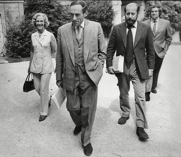 Clement, right, pictured with Liberal Party leader Jeremy Thorpe, centre, abused one girl in Westminster