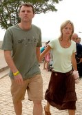 Kate and Gerry McCann, pictured in Praia da Luz after their daughter Madeleine's disappearance