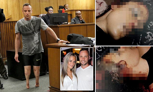 Oscar Pistorius sobs as he walks through court on his deformed legs | Daily Mail Online