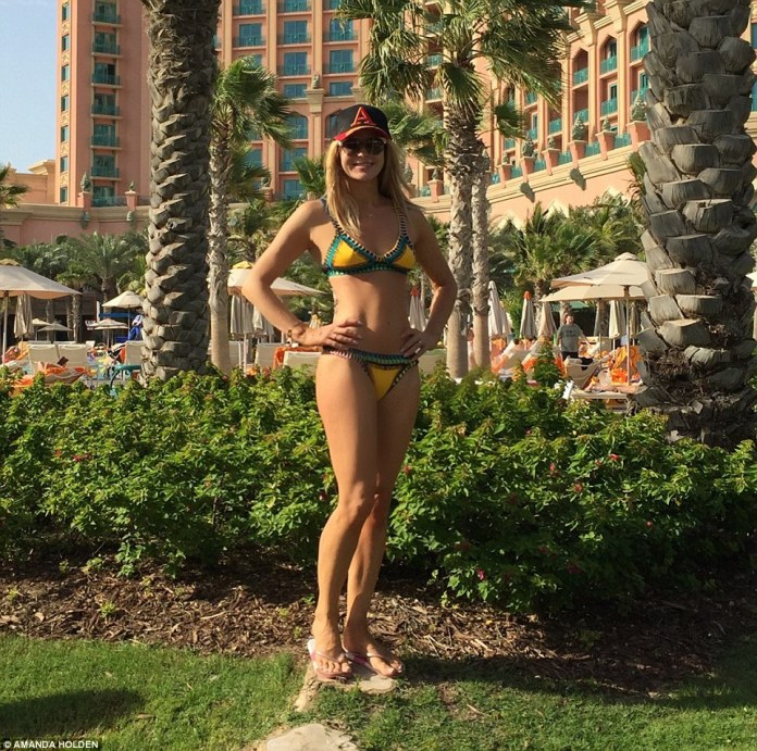Family vibe: Amanda, pictured during her break in Dubai. The star said everywhere was spotless and she felt incredibly safe