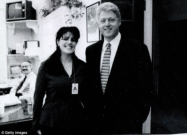 'Lashed out': Monica Lewinsky got all-access from 1996, former Secret Service officer Gary Byrne claims. But in 1997 she allegedly had a tantrum at the gates when she realized Bill Clinton was with another woman
