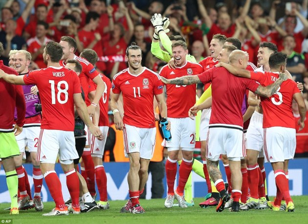 Image result for Wales soccer celebrate