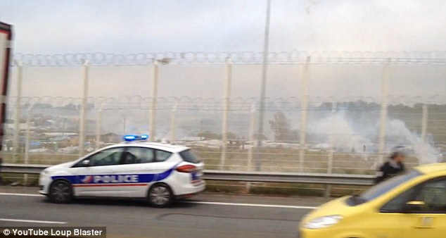 Police swiftly arrived at the scene where they set up barriers and released tear gas