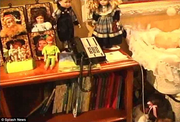 More dolls: Every room of Jackson's home was filled with male or female dolls (above)