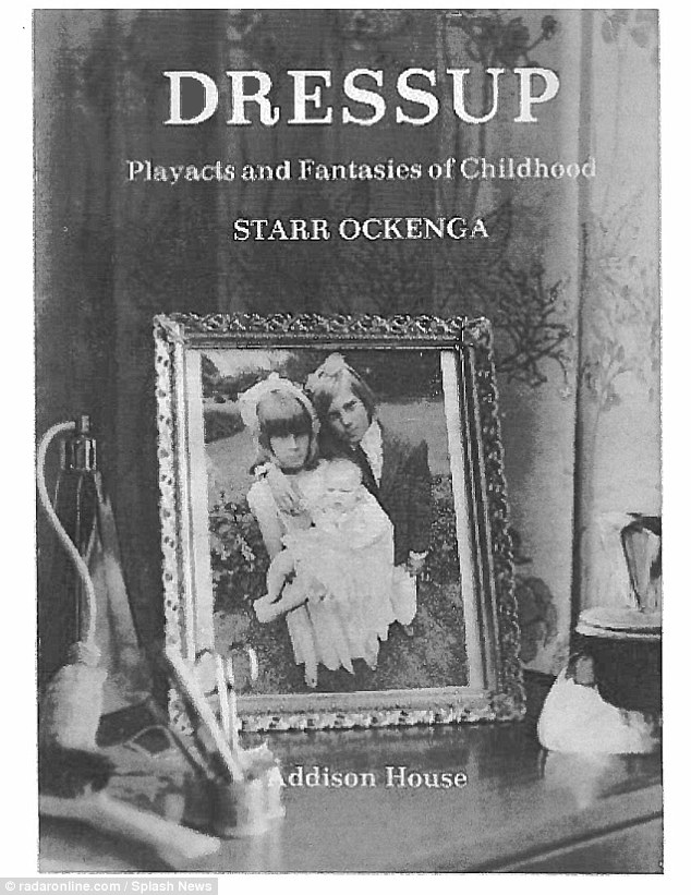 Two young children in a adult scene holding an infant on the cover of one of the books