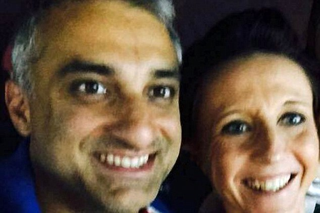 Couple: Raja tried to kill his partner Natalie Queiroz, right, in March this year