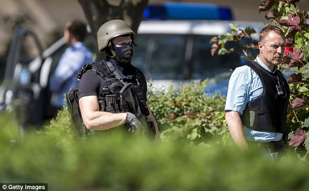 The German Ministry of Interior announced the gunman had been shot dead