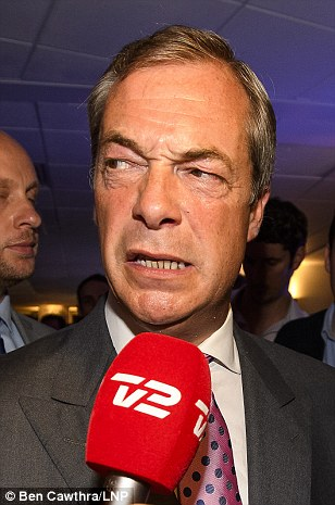 In this picture he looks confused during a night which will no doubt be an emotional roller coaster for the man who has campaigned for Brexit for 25 years
