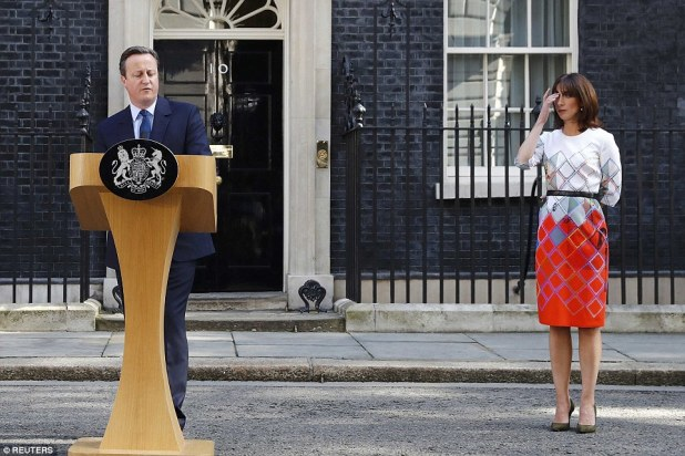 David Cameron said he could not be the 'captain of the ship' while the UK negotiated its exit from the EU as he announced he would be resigning as Prime Minister and Tory leader