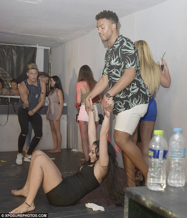 Slip and slide: Chloe showed off some more of her choice moves on the dancefloor