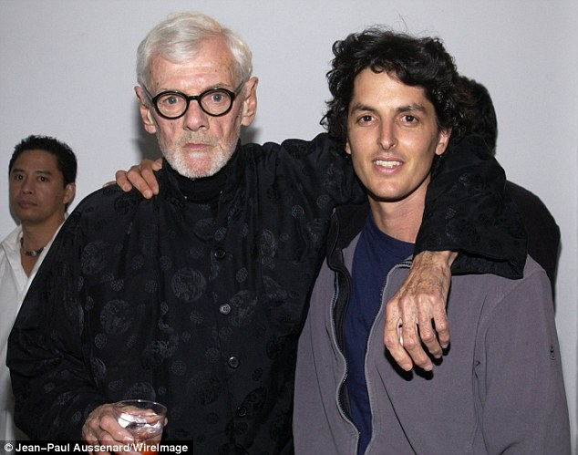 Rebel: Bob Richardson (left, with film director Josh Evans) fought a speed addiction and schizophrenia to become a pioneering 1960s photographer, but lost it all after an affair with then-18-year-old Anjelica Huston