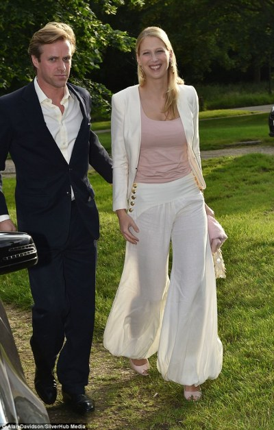 Lady Gabriella Windsor treads in the turf divots at ...