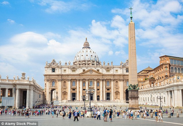 Computer bots were able to use scripts that automatically signed up hundreds of thousands of fake signatures to appear as residents of tiny states such as Vatican City (pictured) to 'show your democracies are a joke'. It meant more than 42,000 signatures were registered in the Vatican City, despite the tiny papal state having a population of just 840