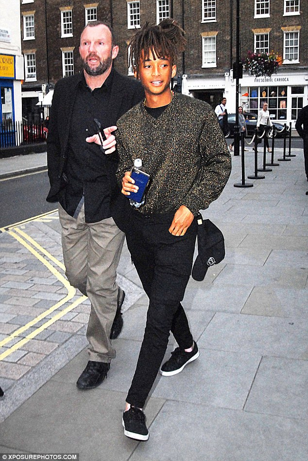 Jaden Smith in sparkly knitwear as he pays a visit to